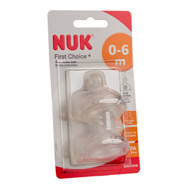 Nuk First Choice + silicone size 1 small feed hole teats